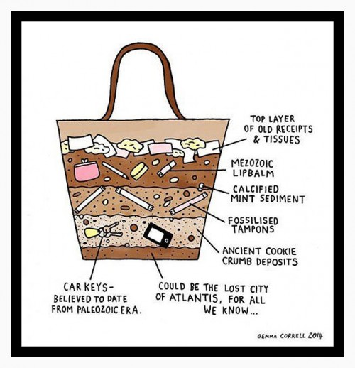 CrossSectionOfAWomansHandbag