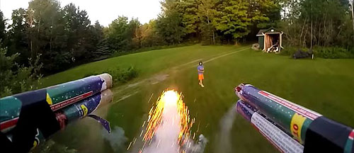 Quadcopter-shooting-fireworks